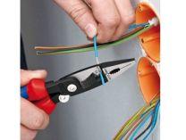 KNIPEX - multifunkční kleště pro elektroinstalace - 200mm - na plochý i kulatý materiál, na měděné a hliníkové kabely do 5x2.5mm², Ø15mm (1391200)
