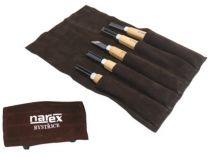 5-dílná sada řezbářských dlát v kapsáři pro začátečníky Narex START - kalená uhlíková ocel, buk