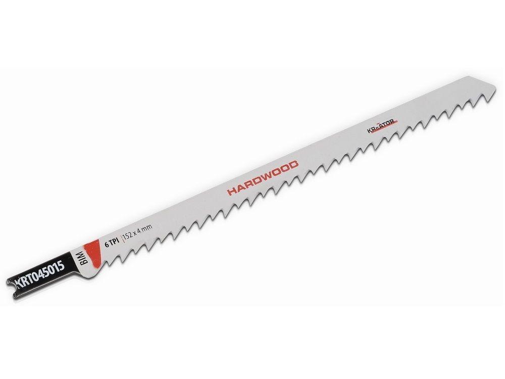 2x Pilový plátek (list) na dřevo pro přímočaré - kmitací pily KREATOR KRT045015 - 152x4mm