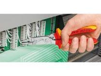 KNIPEX - multifunkční kleště SB pro elektroinstalace - 200mm - na plochý i kulatý materiál, na měděné a hliníkové kabely do 5x2.5mm², Ø15mm (1391200SB)