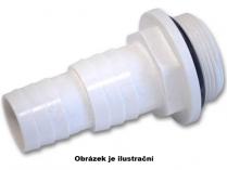 Hadicový trn 32 a 38mm, bílý ABS plast, příslušenství k bazénovým Skimmerům, 0.02kg