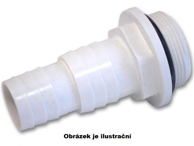 Hadicový trn 32 a 38mm, bílý ABS plast, příslušenství k bazénovým Skimmerům, 0.02kg (308070) Hanscraft