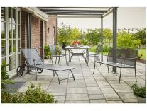 Royal Garden Excelsior Set 1 sestava nábytku (1x stůl + 4x stoh. židle + 1x lehátko)
