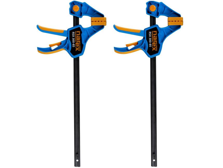 2x Jednoruční lehká rychloupínací svěrka Narex RSX 300-85 DOUBLE SET 300 x 85 mm (65405272)
