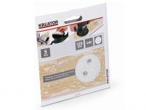 5x Brusný papír na barvu KREATOR KRT230555 - 125mm, zr.80