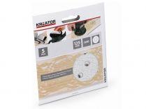 5x Brusný papír na barvu KREATOR KRT230553 - 125mm, zr.40