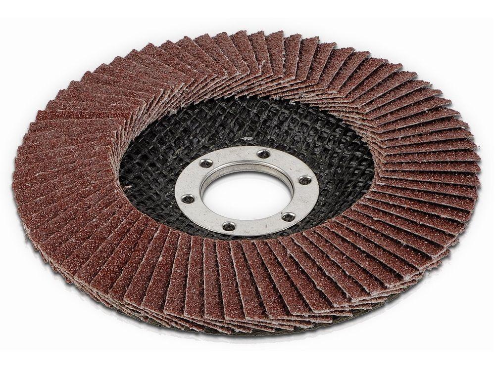 Lamelový brusný kotouč na kovy, dřevo a plast pro úhlovou brusku PowerPlus POWE20020 (KREATOR KRT255504) - 125mm, zr.60