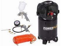 Bezolejový kompresor PowerPlus POWX1731 - 8bar, 180L/min, 1100W, 24L, 15kg, příslušenství