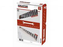 12 dílná sada oboustranných klíčů KREATOR KRT500003 - 6-32mm, chrom-vanadová ocel, DIN 3110