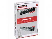 12 dílná sada očkoplochých klíčů KREATOR KRT500009 - 8-22mm, chrom-vanadová ocel, DIN3113