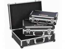 3x Hliníkový kufr na nářadí KREATOR KRT640401B - černý