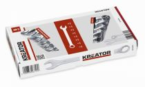 8 dílná sada očkoplochých klíčů KREATOR KRT500008 - 8-19mm, chrom-vanadová ocel, DIN3113
