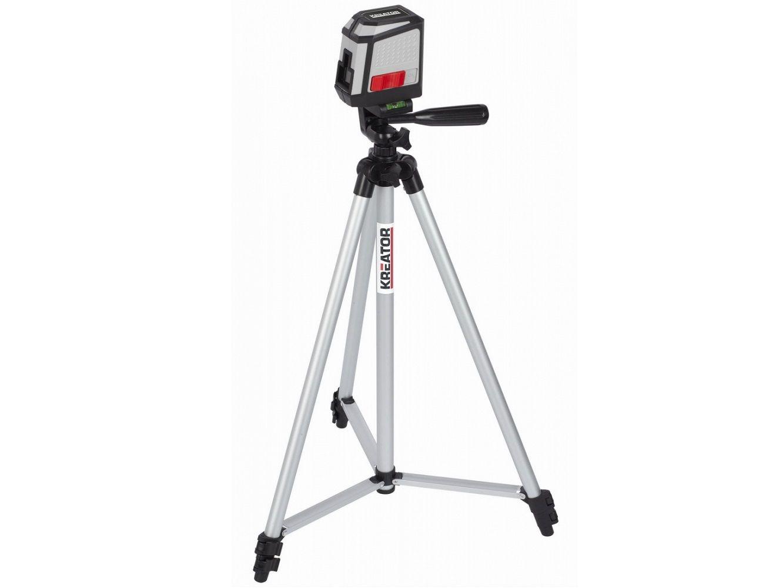 Křížový laser + stativ KREATOR KRT706300T - 2x AA, 12m, 0.28kg