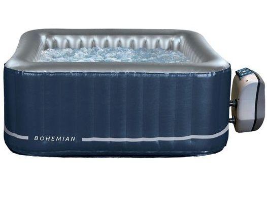 Nafukovací mobilní vířivka HANSCRAFT NetSpa Bohemian - pro 2 osoby a 2 děti, ohřev 1500W, 650L, 1.58x1.58x0.7m, čtvercová (111209-H)