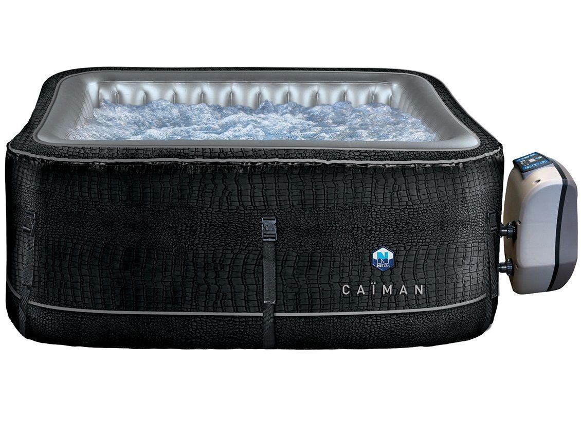 Nafukovací mobilní vířivka HANSCRAFT NetSpa Caiman - pro 4 osoby, ohřev 1500W, čerpadlo 40W, 700L, 1.68x1.68x0.7m, čtvercová (111203-H)