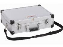 Hliníkový kufr na nářadí KREATOR KRT640101S - 420x300x125mm, 1.8kg, stříbrný