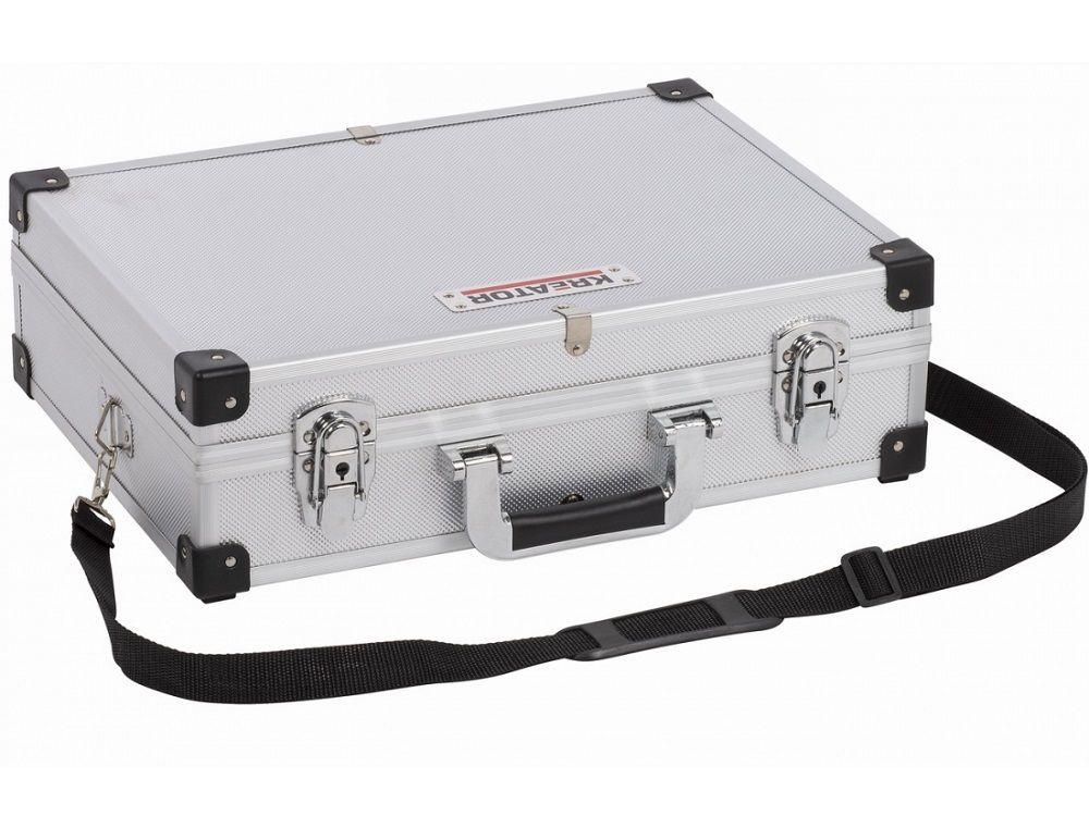 Organizér - Hliníkový kufr na nářadí KREATOR KRT640101S - 420x300x125mm, 1.8kg, stříbrný
