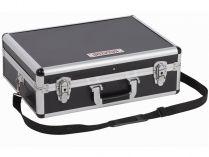Hliníkový kufr na nářadí KREATOR KRT640102B - 460x330x155mm, 2.68kg, černý