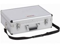 Hliníkový kufr na nářadí KREATOR KRT640102S - 460x330x155mm, 2.68kg, stříbrný