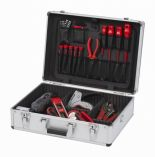 Organizér - Hliníkový kufr na nářadí KREATOR KRT640102S - 460x330x155mm, 2.68kg, stříbrný