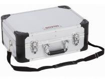 Hliníkový kufr na nářadí KREATOR KRT640104S - 433x313x163mm, 2.52kg, stříbrný