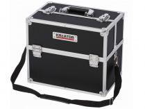 Hliníkový kufr na nářadí KREATOR KRT640301B - 360x230x300mm, 3kg, černý