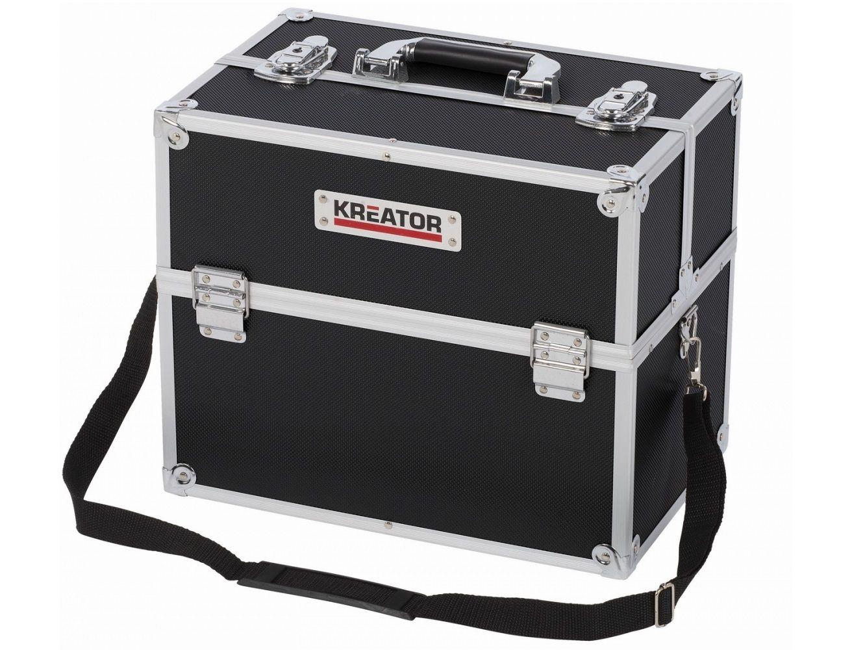 Organizér - Hliníkový kufr na nářadí KREATOR KRT640301B - 360x230x300mm, 3kg, černý
