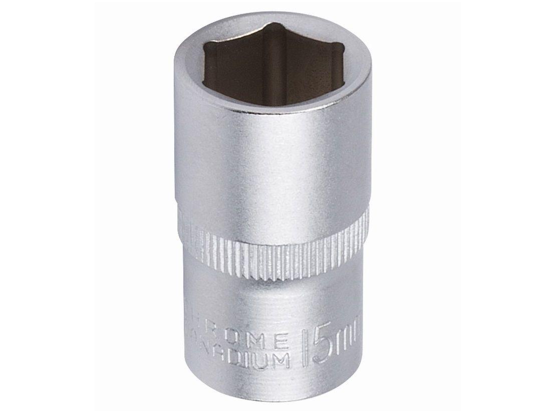 """Nástrčná hlavice KREATOR KRT502006 - 1/2"""", 6 hran, 15mm, DIN3124, chrom-vanadová ocel"""