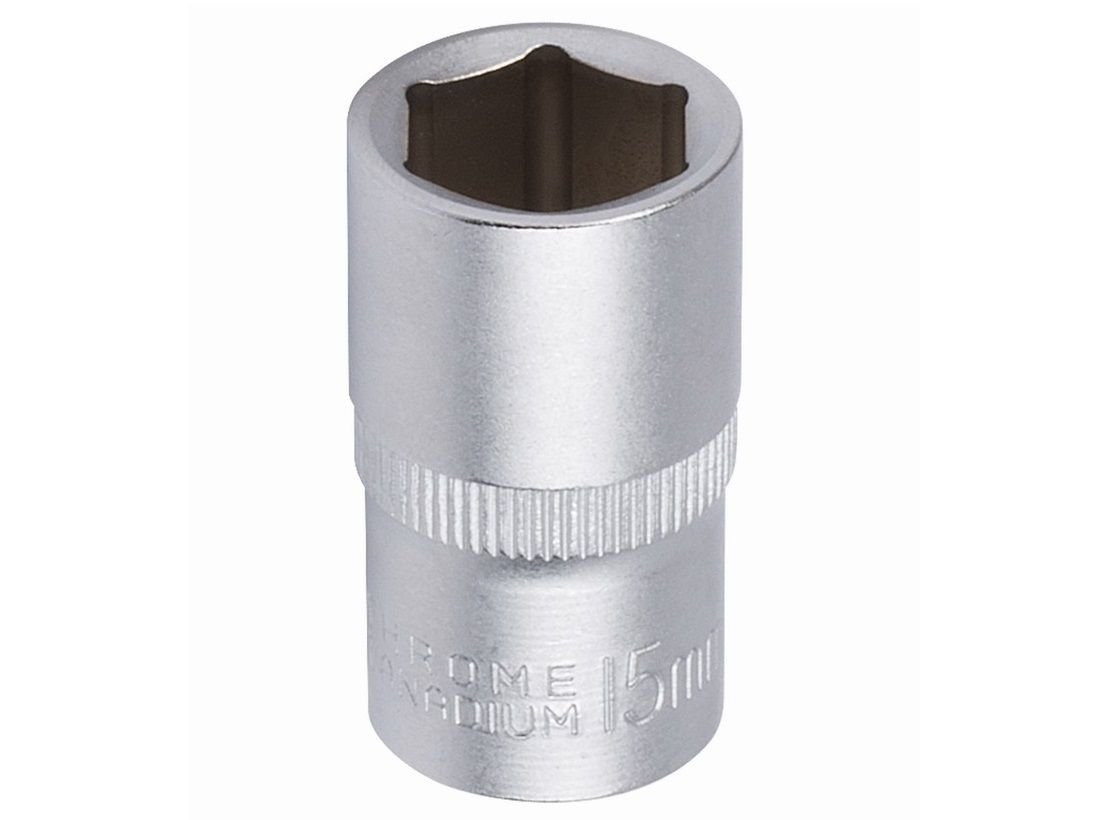 """Nástrčná hlavice KREATOR KRT502008 - 1/2"""", 6 hran, 17mm, DIN3124, chrom-vanadová ocel"""