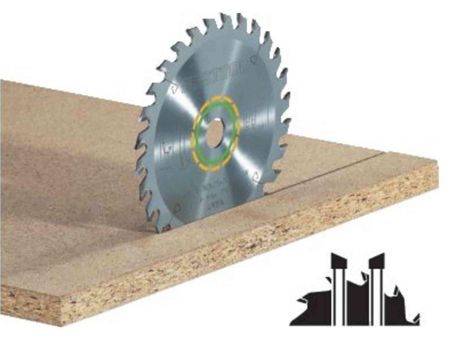Univerzální pilový kotouč pro pilu Festool TKS 80 (Festool 254x2,4x30 W40) 254x30mm, 40 zubů, kód: 575975