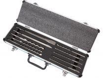 10-dílná sada sekáčů a vrtáků SDS-Plus v hliníkovém kufru Makita D-70904
