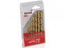 10-dílná sada vrtáků do kovu KREATOR KRT012102 - 1-10mm