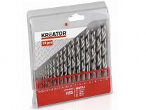 19-dílná sada vrtáků do kovu KREATOR KRT012003 - 1-10mm