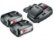 Bosch Startovací sada 2× aku 18V/2.5Ah + AL 1830 CV HOBBY Power4All (1600A011LD)