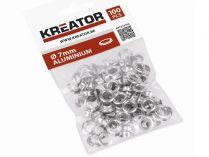 Hliníkové kroužky pro nýtovací kleště KREATOR KRT616101 a KRT616104 - 7mm, 100ks