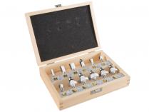 12-dílná sada frézek s hřídelí 6mm v dřevěné krabici Makita D-57065