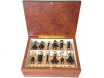 12-dílná sada frézek s hřídelí 8mm v dřevěné krabici Makita A-88440