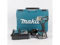 Makita DTW300RTJ - 2x 18V/5.0Ah, 1/2'', 330Nm, 1.8kg, kufr, bezuhlíkový aku rázový utahovák