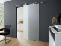OBI Posuvné skleněné dveře Fumo otevřený systém, satinované 90x205 cm