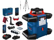 Rotační laser Bosch GRL 600 CHV Professional - 1x 18V/4.0Ah, stativ, měřící lať