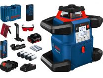 Rotační laser Bosch GRL 600 CHV Professional - 1x 18V/4.0Ah, 600m, červený, 1.3kg, příslušenství
