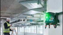 Křížový laser Bosch GCL 2-50 G Professional - se zeleným paprskem, 4x AA, 15m, otočný držák, cílová destička, taška (0601066M00) Bosch PROFI
