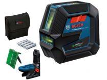 Křížový laser Bosch GCL 2-50 G Professional - 4x AA, 15m, otočný držák, cílová destička, taška
