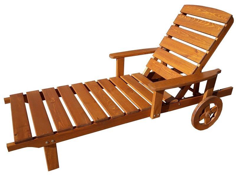 Garland Viken - dřevěné polohovatelné lehátko (501309-8) GARLAND zahradní nábytek