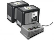 Sada Kärcher Starter kit Battery Power+ 36/60: 2x aku 36V/6.0Ah + rychlonabíječka