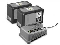 Sada Kärcher Starter kit Battery Power+ 36/75: 2x aku 36V/7.5Ah + rychlonabíječka