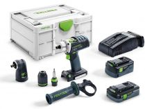 Festool DRC 18/4 5,2/4,0 I-Set-SCA - 2x 18V/4.0Ah+5.2Ah Airstream, 60Nm, 1.9kg, aku vrtačka