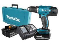 Makita DDF453SFE - 2x 18V/3.0Ah, 42Nm, 2 rychl., 1.9kg, kufr, aku vrtačka bez příklepu