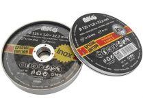 10x Řezný kotouč na ocel a nerez Magg 125x1,0x22,2mm, v kovovém pouzdře