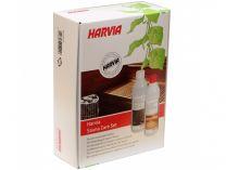 Saunový čistící set pro sauny Harvia Sauna Care Set 176220 (čistič dřeva, parafínový olej, rukavice, houba, smirkový papír)